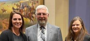 Jami Groendyke, Sen. Roland Pederson, Dr. Cheryl Evans