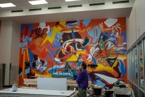 Osage artist Yatika Starr Fields' mural at Northern Oklahoma College will be dedicated June 16.