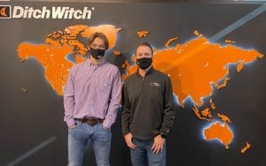 Blayne Douglass and Dustin Barden at Ditch Witch in Perry